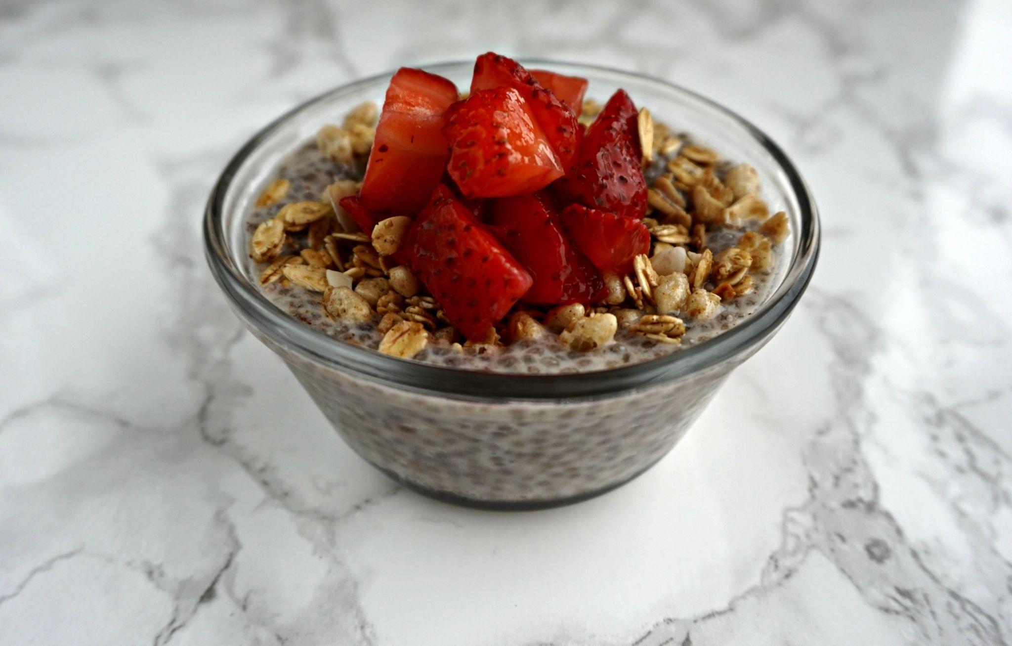Quick & Easy Breakfast | Strawberry Chia Pudding