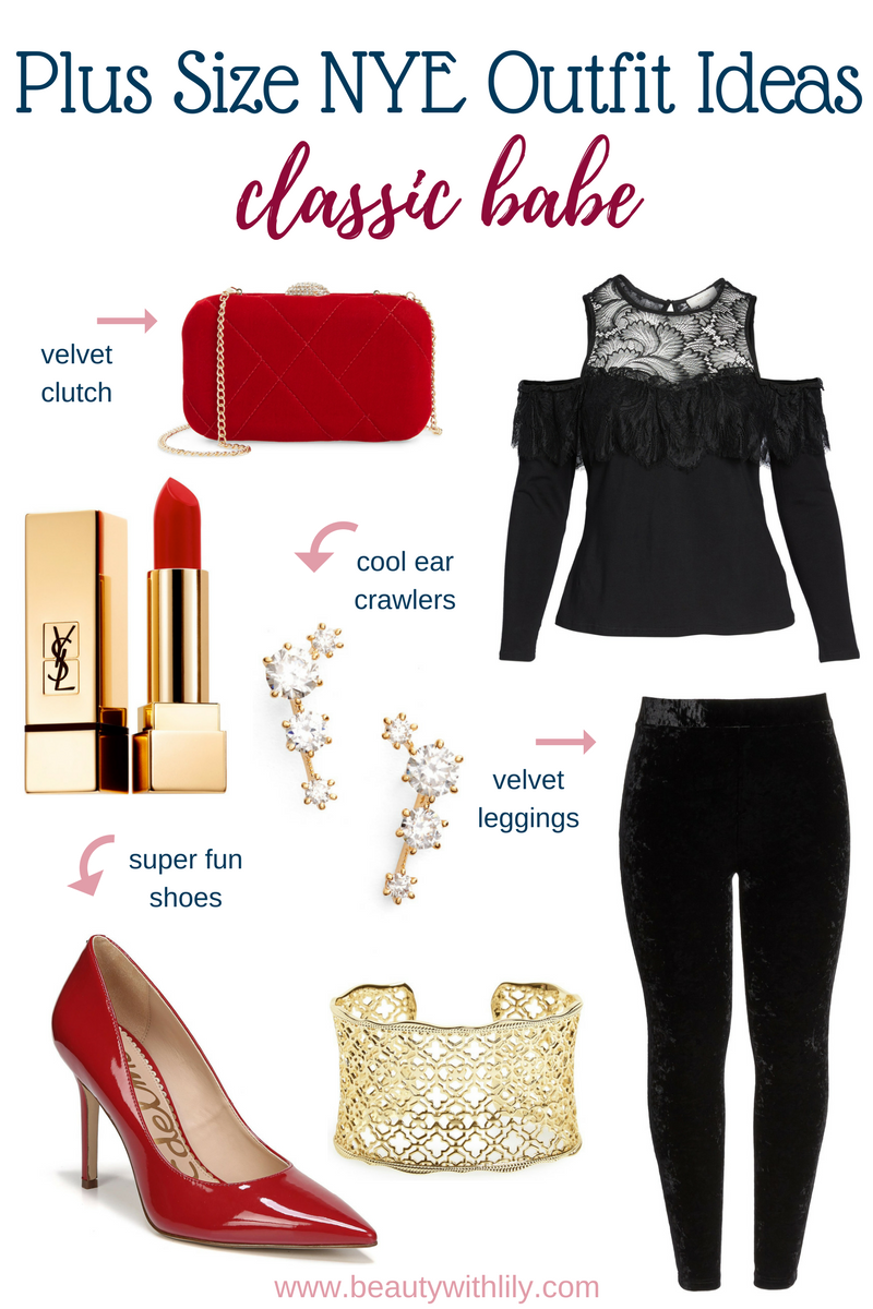 Plus Size New Years Eve Outfit Ideas // Plus Size Party Outfit   Beauty With Lily #nyeoutfit #fashionblogger #plussizefashion