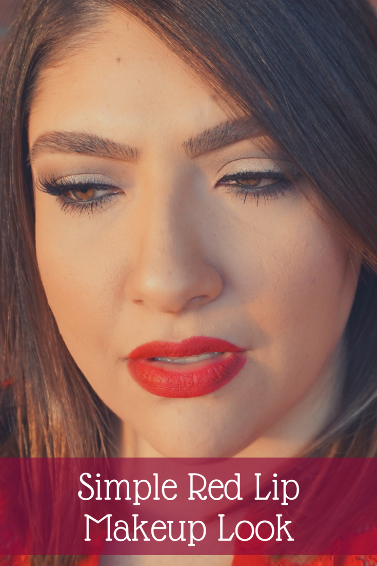 Simple Red Lip Makeup Look // Beauty With Lily | #beautyblogger #makeuplook