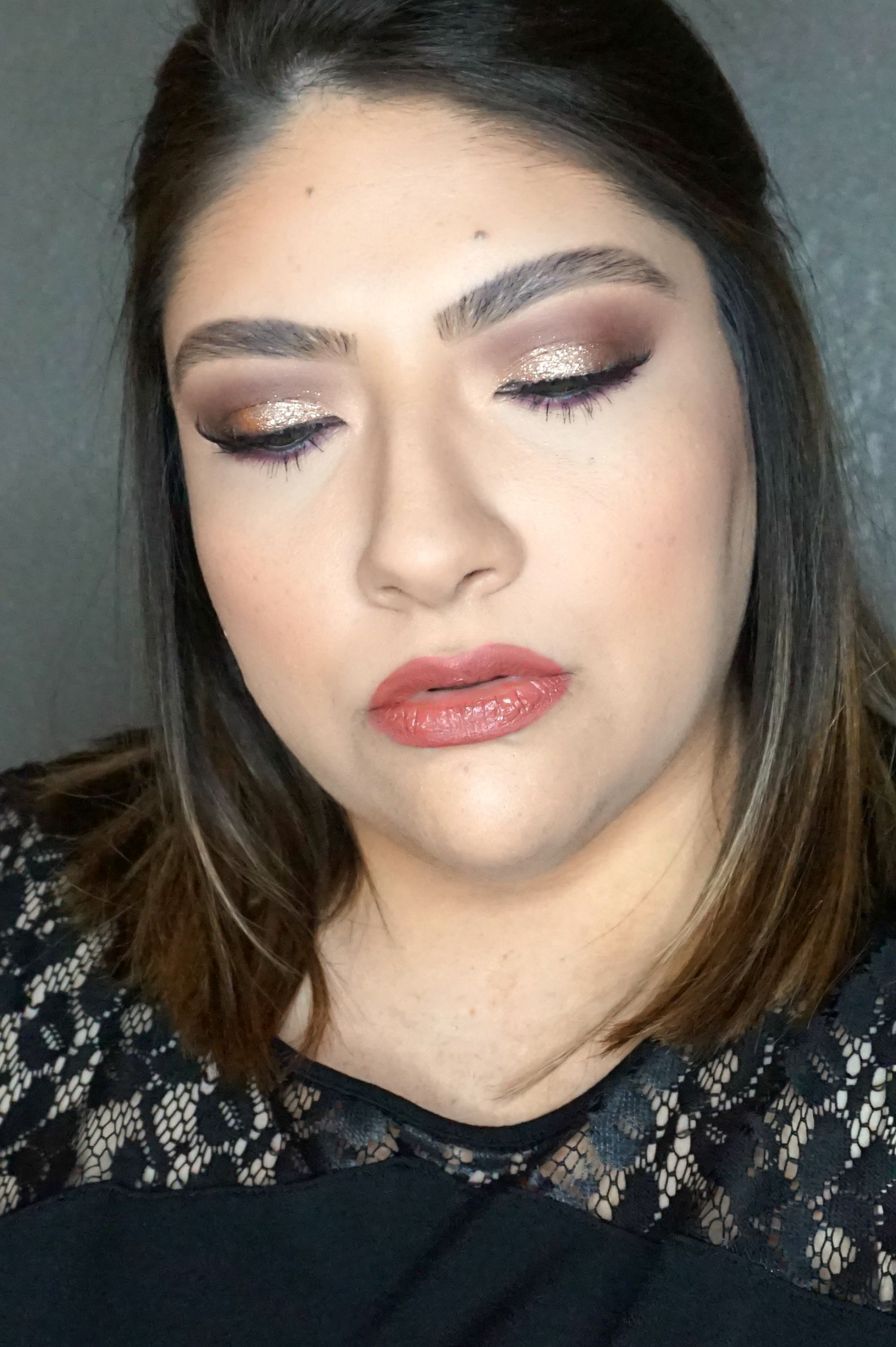Metallic Eye Look / Glitter Eye Look | Beauty With Lily #beautyblogger #glittereyelook