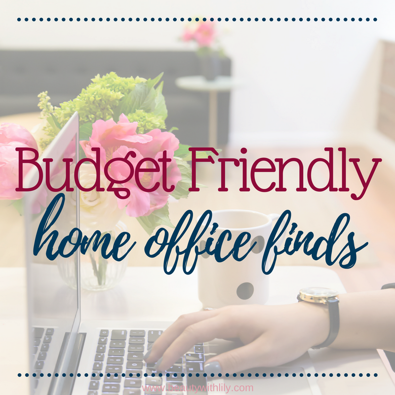Affordable Home Office Finds   Home Office Ideas   Home Office Decor   Beauty With Lily #lifestyleblogger #homedecor