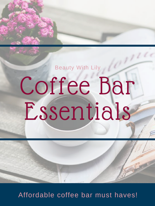 Coffee Bar Essentials // Coffee Bar Must Haves // Coffee Bar Ideas   Beauty With Lily #homedecor #coffeebar #beautywithlily