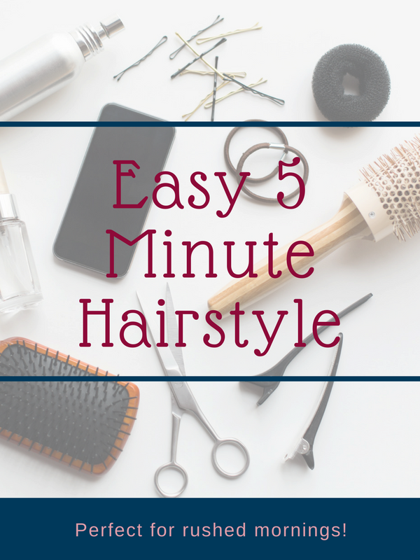 Easy 5 Minute Hairstyle // Easy Half Up, Half Down Hairstyle | Beauty With Lily #beautyblogger #hairstyle