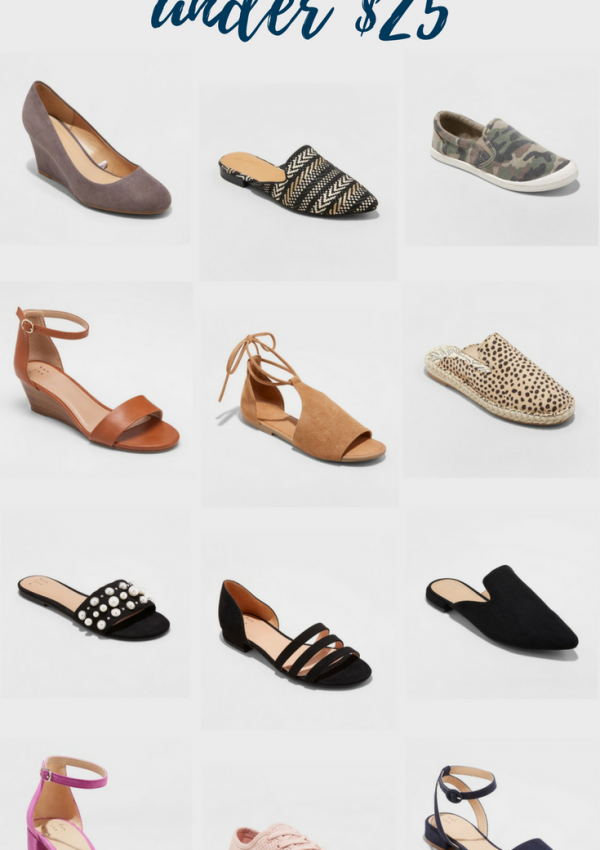 Affordable Spring Shoes // Shoes Under $25 // Cheap & Cute Shoes // Summer Shoes | Beauty With Lily #fashionblogger #shoelove
