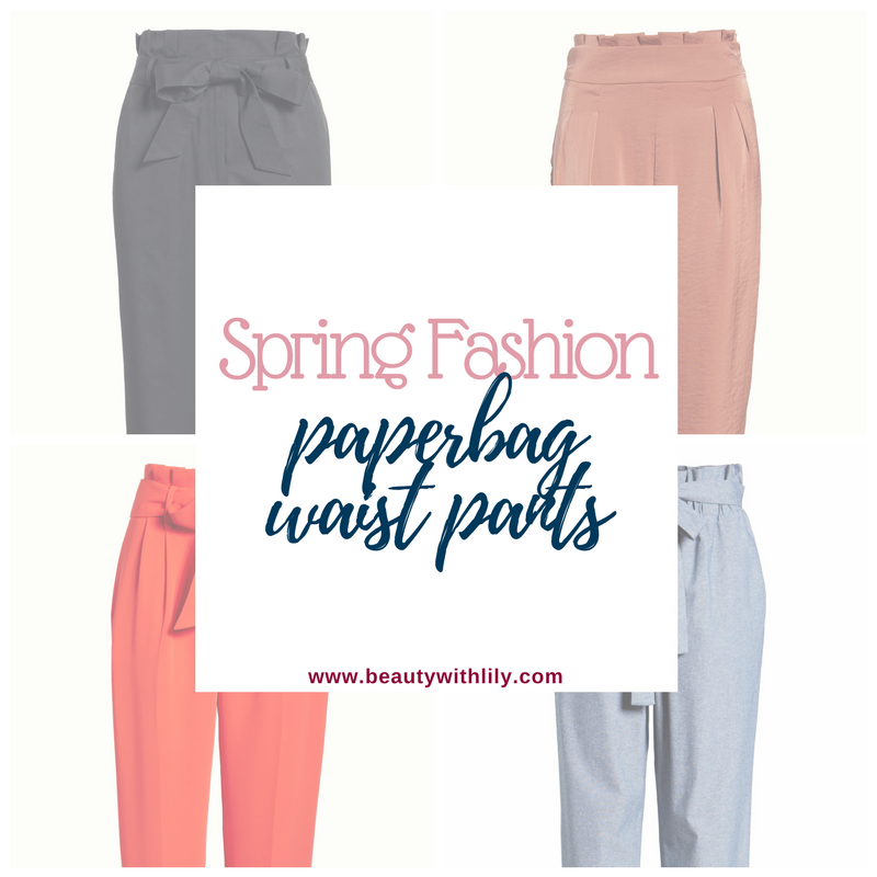 Spring Fashion Paperbag Waist Pants // Spring Outfit Ideas // Paperbag Waist Pants // Spring Fashion Trends | Beauty With Lily #fashionblogger #springfashion #springoutfits