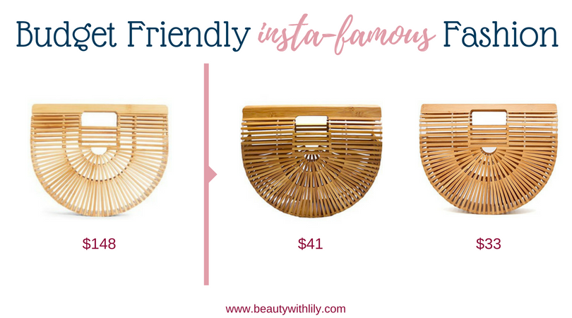 Budget Friendly Insta-Famous Fashion Pieces // High-End Dupes // High-End Knockoffs // Fashion Dupes // Affordable Bamboo Bags   Beauty With Lily