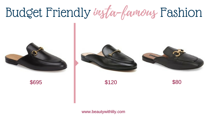 Budget Friendly Insta-Famous Fashion Pieces // High-End Dupes // High-End Knockoffs // Fashion Dupes // Affordable Black Mules   Beauty With Lily