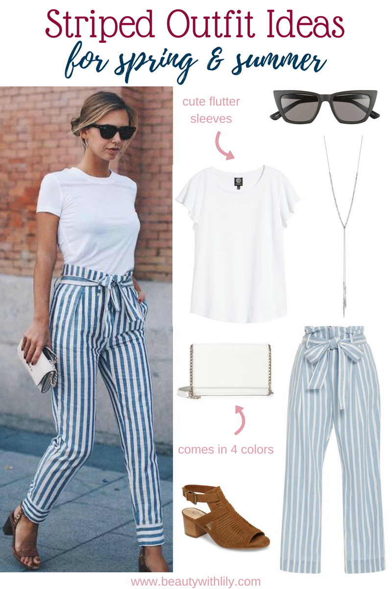 Striped Outfit Ideas // Spring Outfit Ideas // Spring Fashion // Summer Fashion // Office Fashion // Work Wear | Beauty With Lily #springfashion #summerfashion #officewear