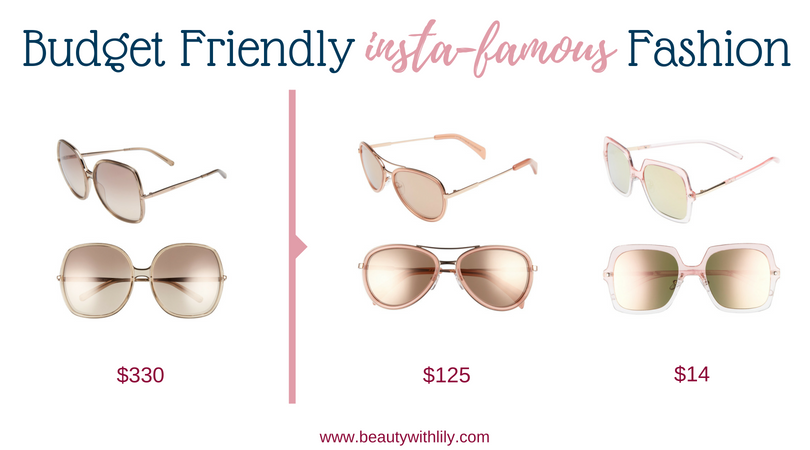 Budget Friendly Insta-Famous Fashion Pieces // High-End Dupes // High-End Knockoffs // Fashion Dupes // Affordable Oversized Square Sunglasses   Beauty With Lily