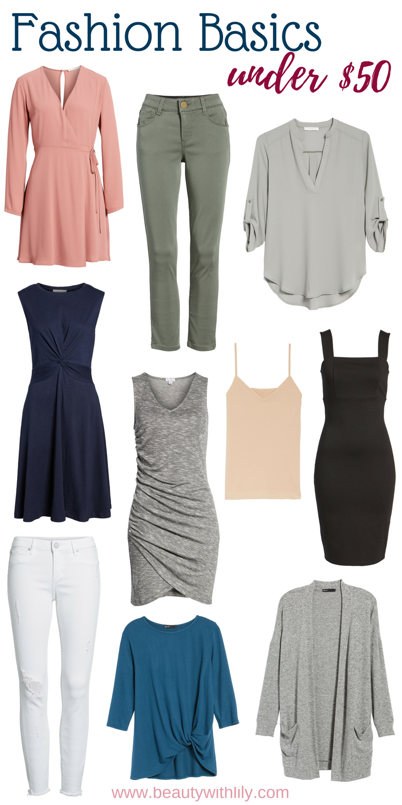 Fashion Basics Under $50 // Classic Clothing Pieces // Timeless Clothing Pieces // Versatile Fashion // Easy Fashion   Beauty With Lily