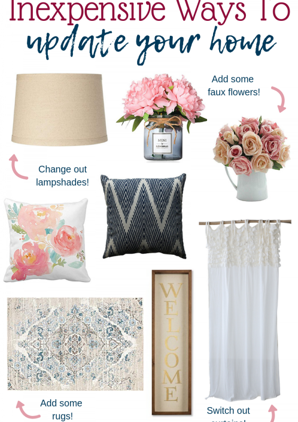 Inexpensive Ways To Update Your Home // Simple Ways To Redecorate On A Budget // Home Decor Tips // Simple Ways To Decorate Your Home On A Budget // Budget Decorating | Beauty With Lily