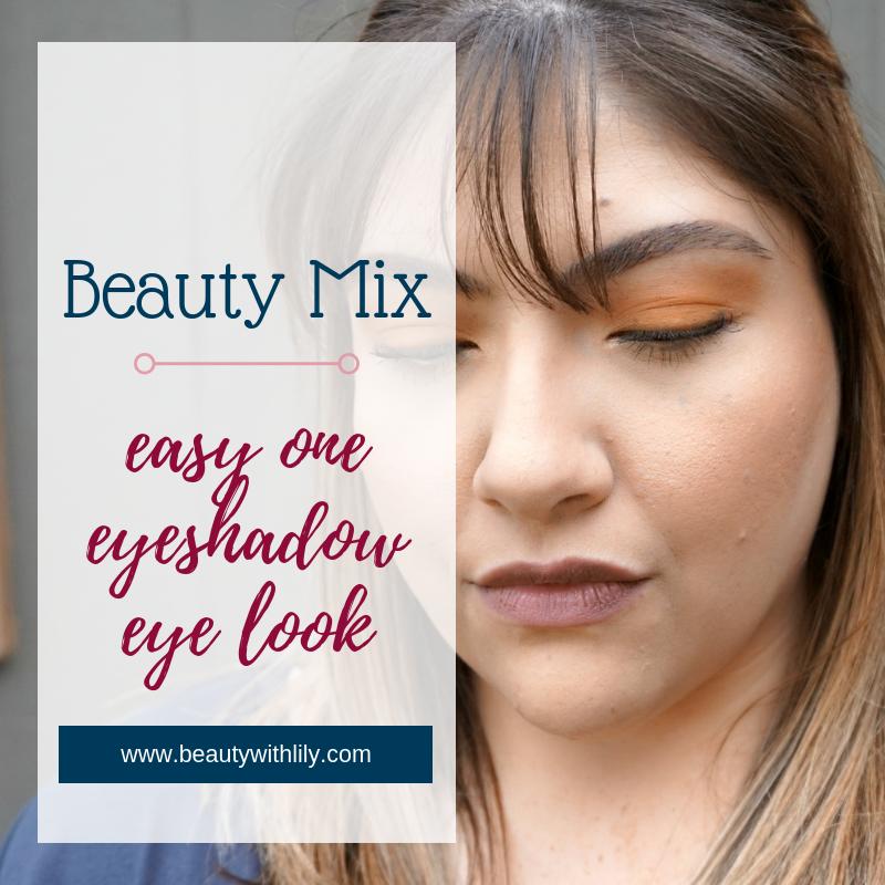 One Eyeshadow Makeup Look // Easy Fall Makeup Look // Fall Makeup // Mustard Eyeshadow Look | Beauty With Lily