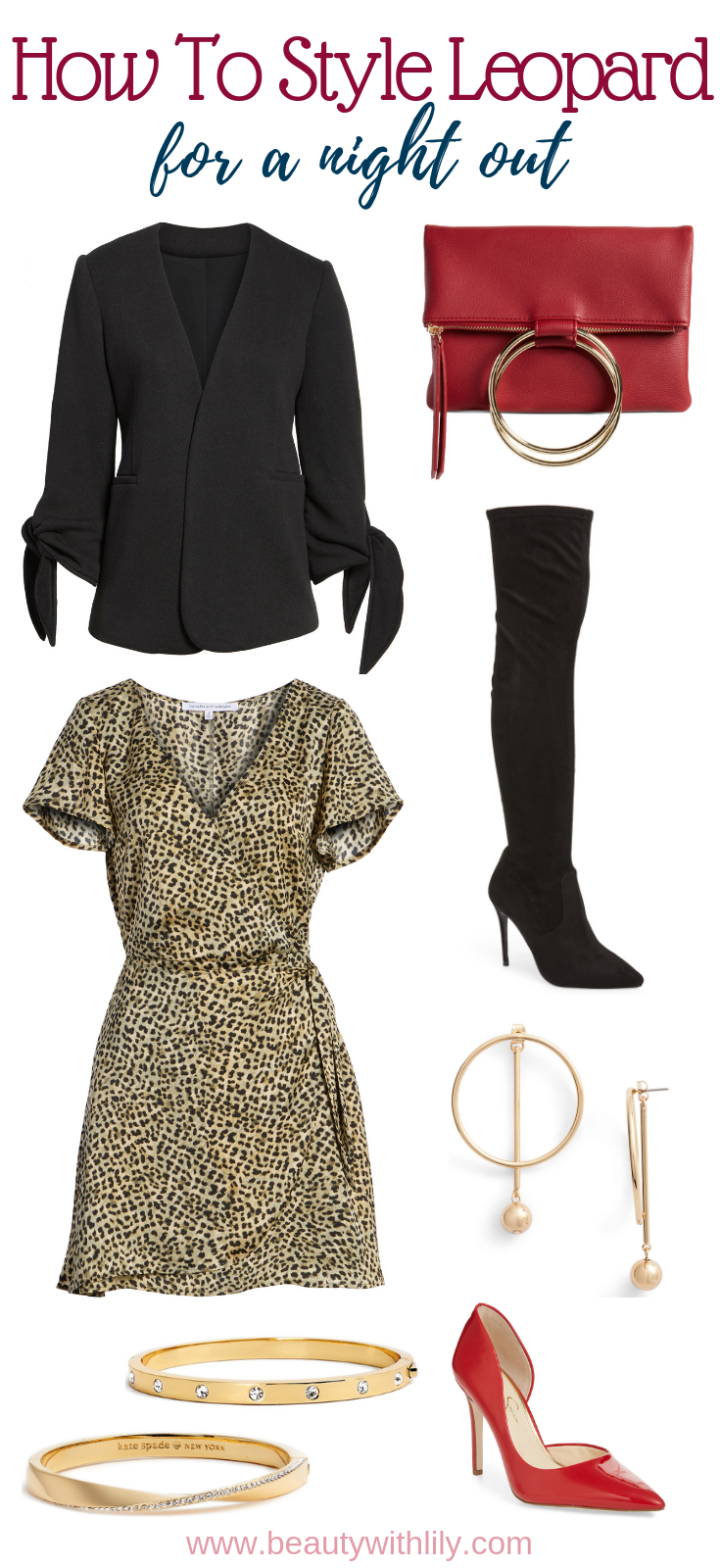 Leopard Print Outfit Ideas // Night Out Outfit // Party Outfit // How To Style Leopard Print // Fall Outfit Ideas // Fall Fashion   Beauty With Lily