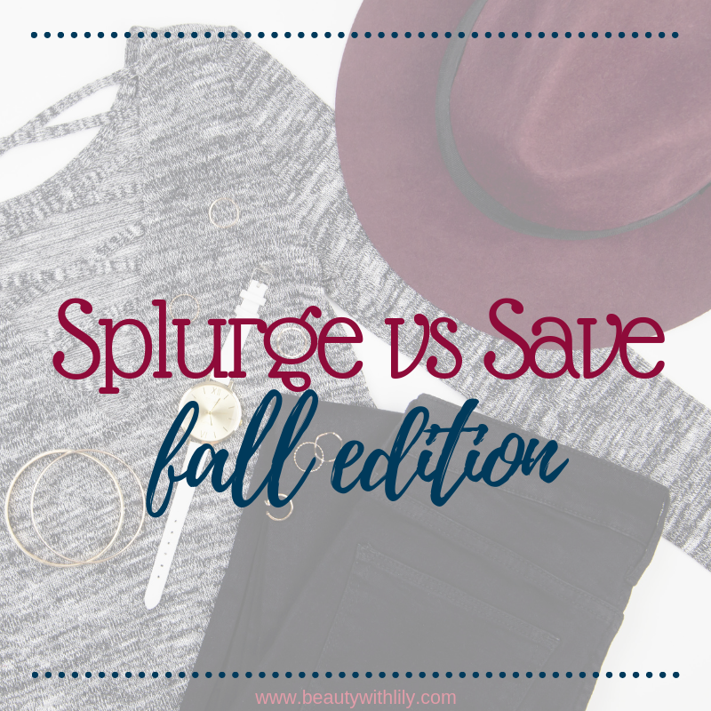 Fall Save vs Splurge // Fall Fashion // Affordable Fall Fashion // Fall Outfits // Outfit Inspiration   Beauty With Lily