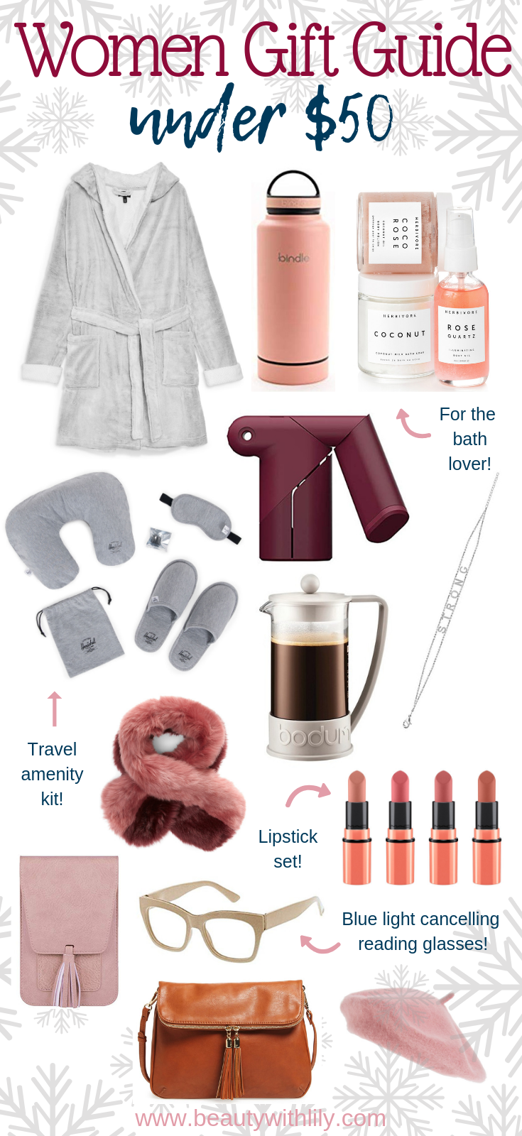 Gift Guide For Women // Gift Ideas For Her // Stocking Stuffer Ideas For Her // Holiday Gift Guide | Beauty With Lily