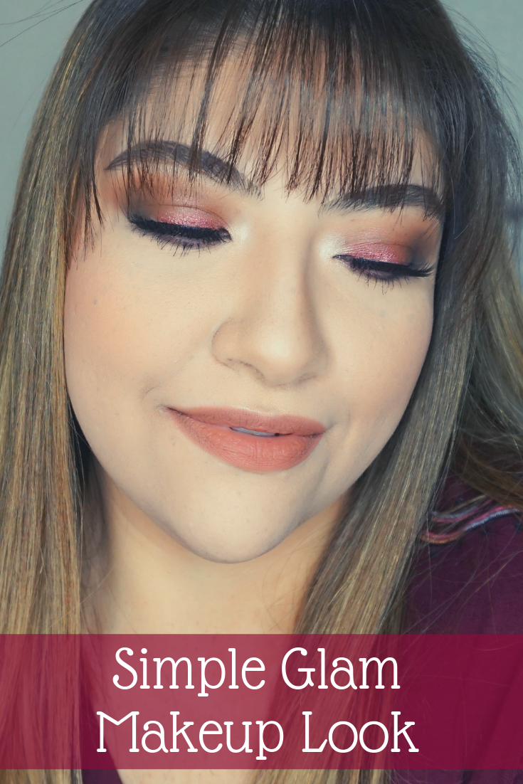 Easy Glam Makeup Look // Simple Glam Makeup // Easy Makeup Look // Thanksgiving Makeup Look // Holiday Makeup // Fall Makeup Look   Beauty With Lily