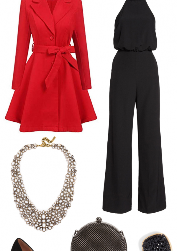 Holiday Outfit Inspiration // Holiday Party Outfits // Winter Outfits // Winter Fashion // How To Style Jumpsuit // Classic Winter Outfit | Beauty With Lily