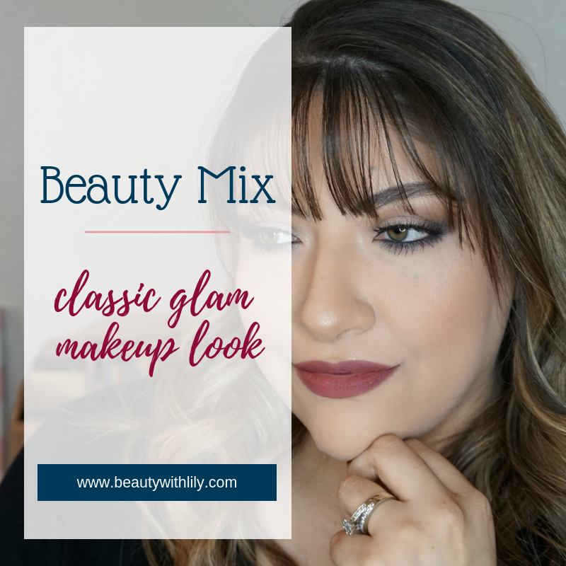 Classic Glam Makeup Look // Glam Makeup Look // Easy Makeup Look // Holiday Makeup Inspiration // Classic Makeup | Beauty With Lily