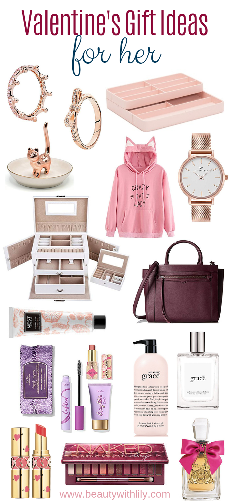 Valentine's Day Gift Ideas For Her // Affordable Valentine's Day Gifts // Gifts For Her   Beauty With Lily