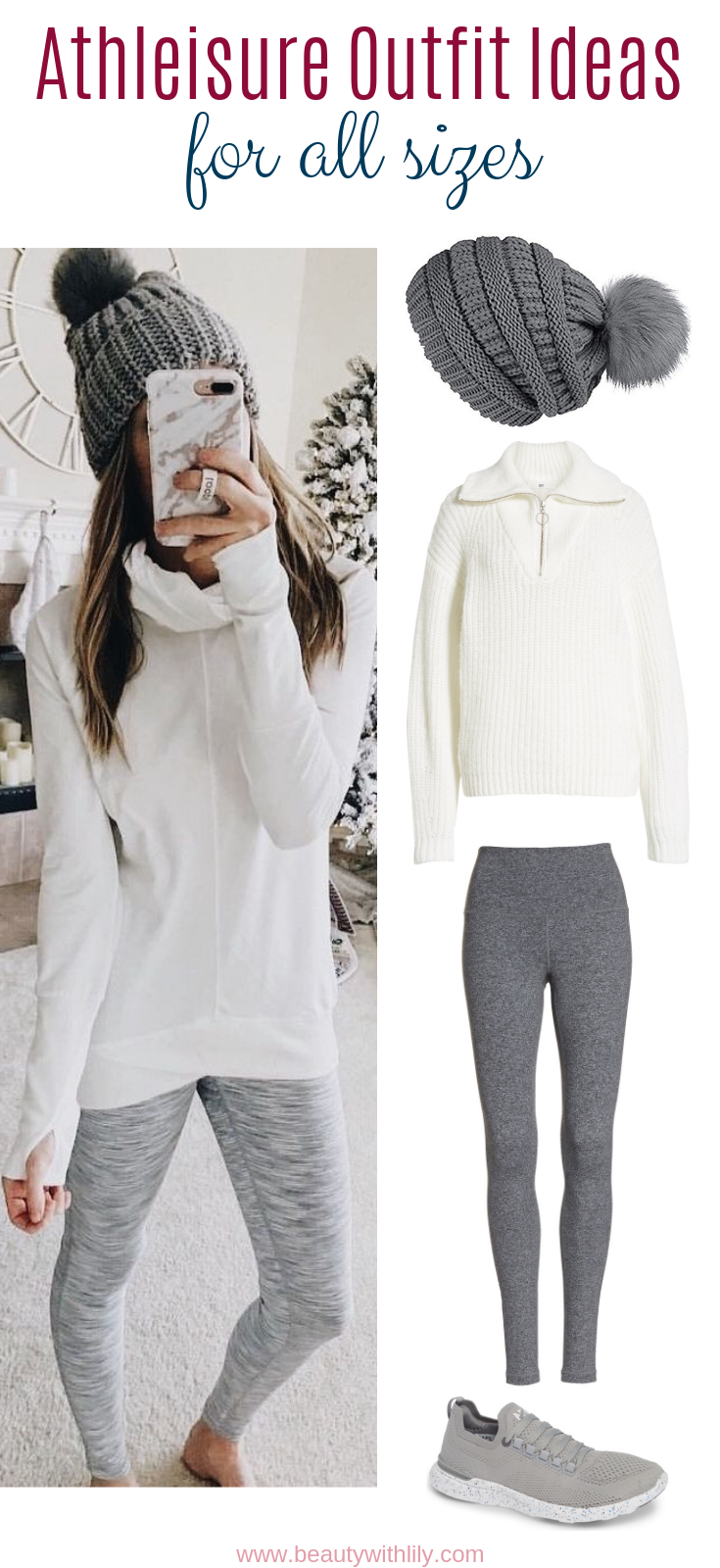 Winter Athleisure Outfits // Athletic Wear // Athleisure Outfit Ideas // Winter Outfit Ideas // Casual Outfits // Comfortable Clothing // Affordable Clothing // Sporty Fashion // Winter Fashion // Plus Size Fashion | Beauty With Lily