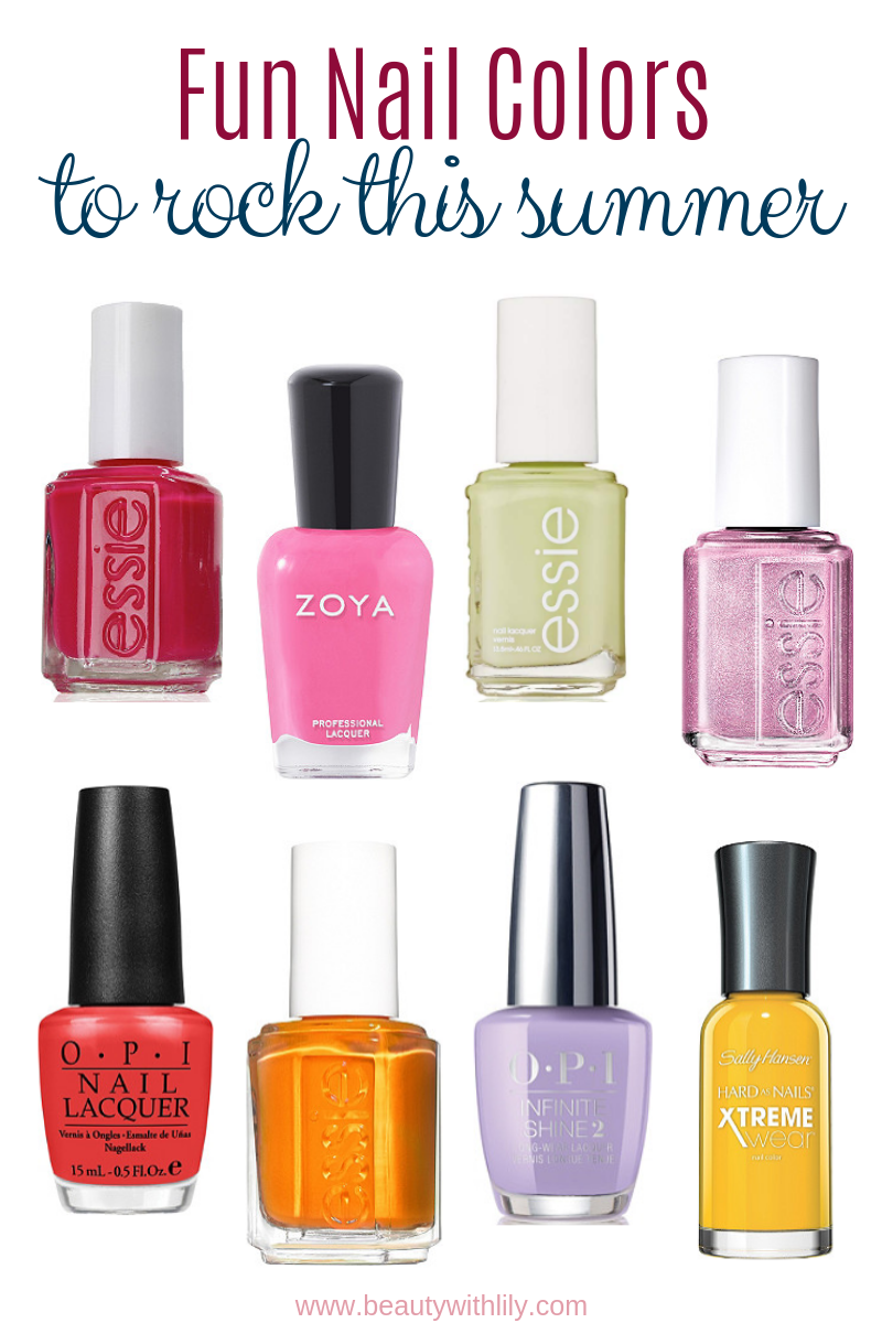 Trending Summer Nail Colors // Nail Polishes for Spring and Summer   Beauty With Lily