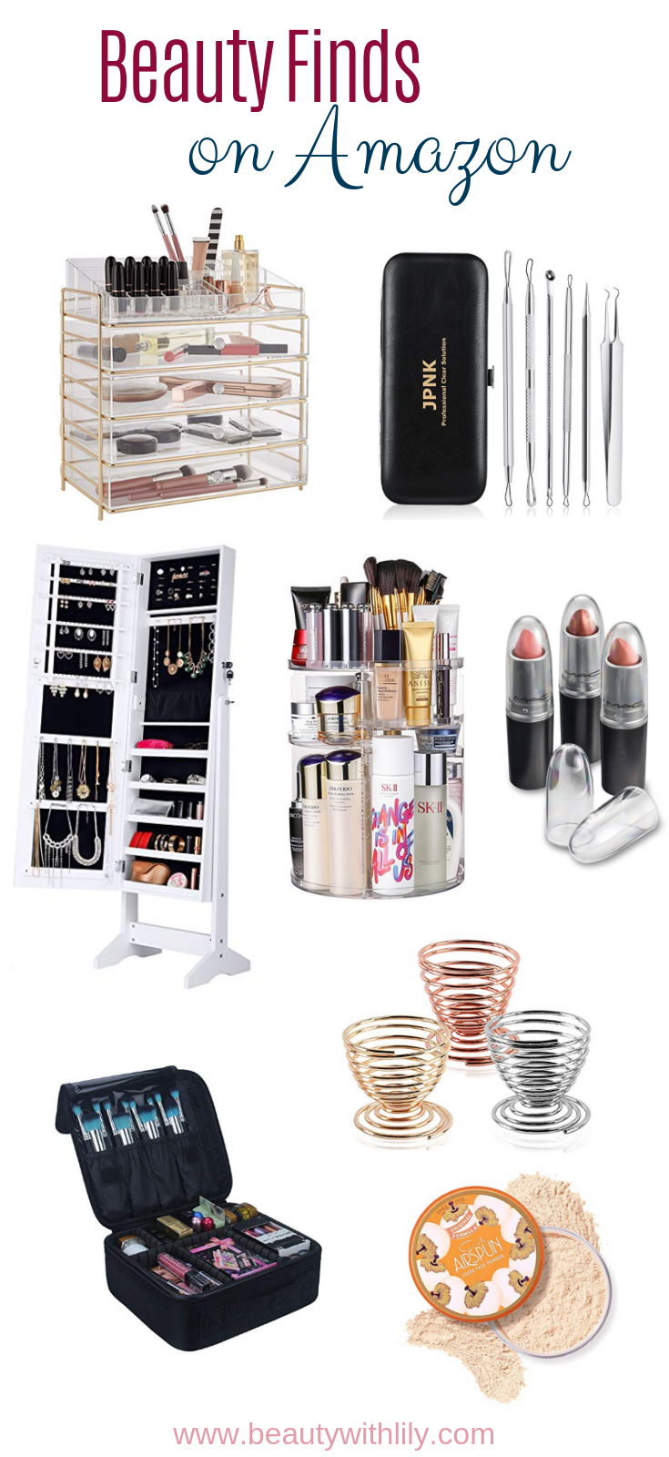 Beauty Finds on Amazon // Makeup Organization // Affordable Organization on Amazon // Beauty Hacks   Beauty With Lily