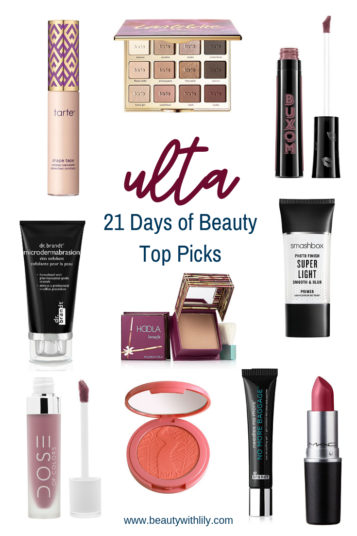 Ulta 21 Days of Beauty Top PIcks // Ulta Sale // High End Makeup Products Worth The Splurge // Makeup Worth Buying | Beauty With Lily