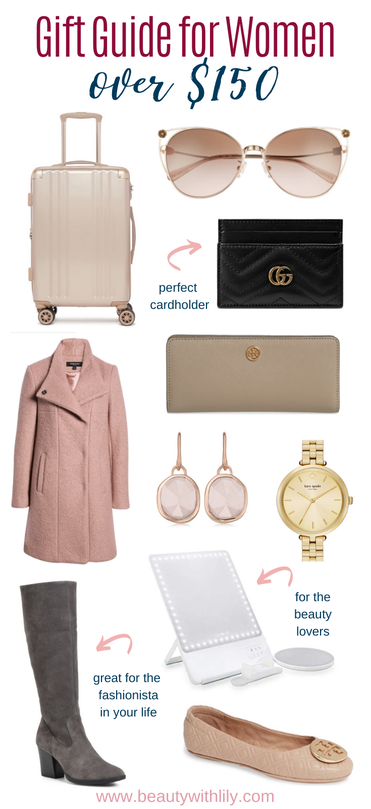Gift Guide for Women // Gift Ideas for Her // Affordable Gifts for Women // Stocking Stuffers for Women // Christmas Gift Ideas // Gifts Under $100 // Gifts Under $50 // Gifts for All Budgets | Beauty With Lily
