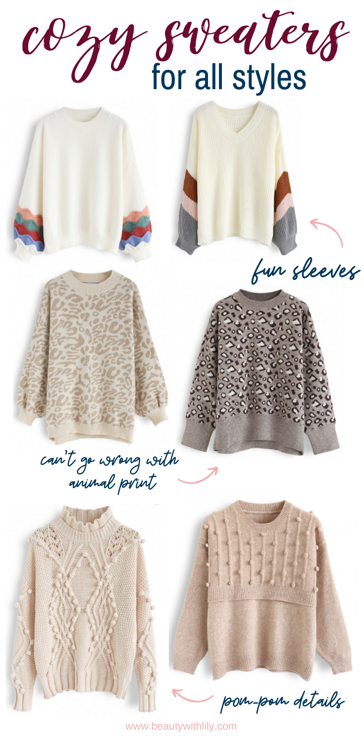 Best Sweaters for Fall // Sweater Weather Fashion // Fall Fashion Ideas // Best Oversized Sweaters // Winter Fashion // Cozy Outfit Ideas // Cozy Sweaters   Beauty With Lily