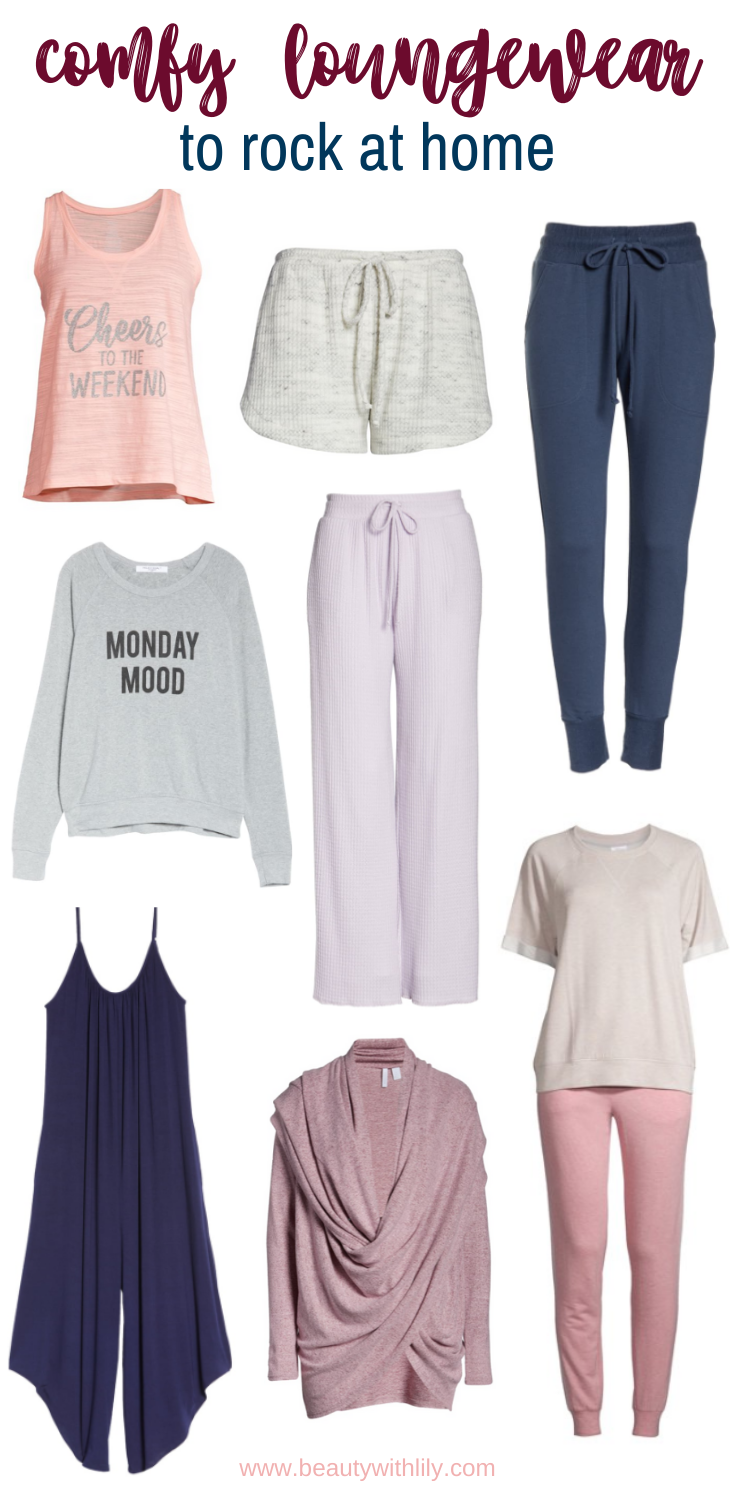 Cozy Loungewear // Comfy Loungewear // Athleisure Looks // Casual Clothes to Wear at Home // Things To Do At Home // Casual Style // Spring Fashion // Summer Fashion // Fall Fashion // Winter Fashion | Beauty With Lily #comfyclothes #casualfashion #loungewear