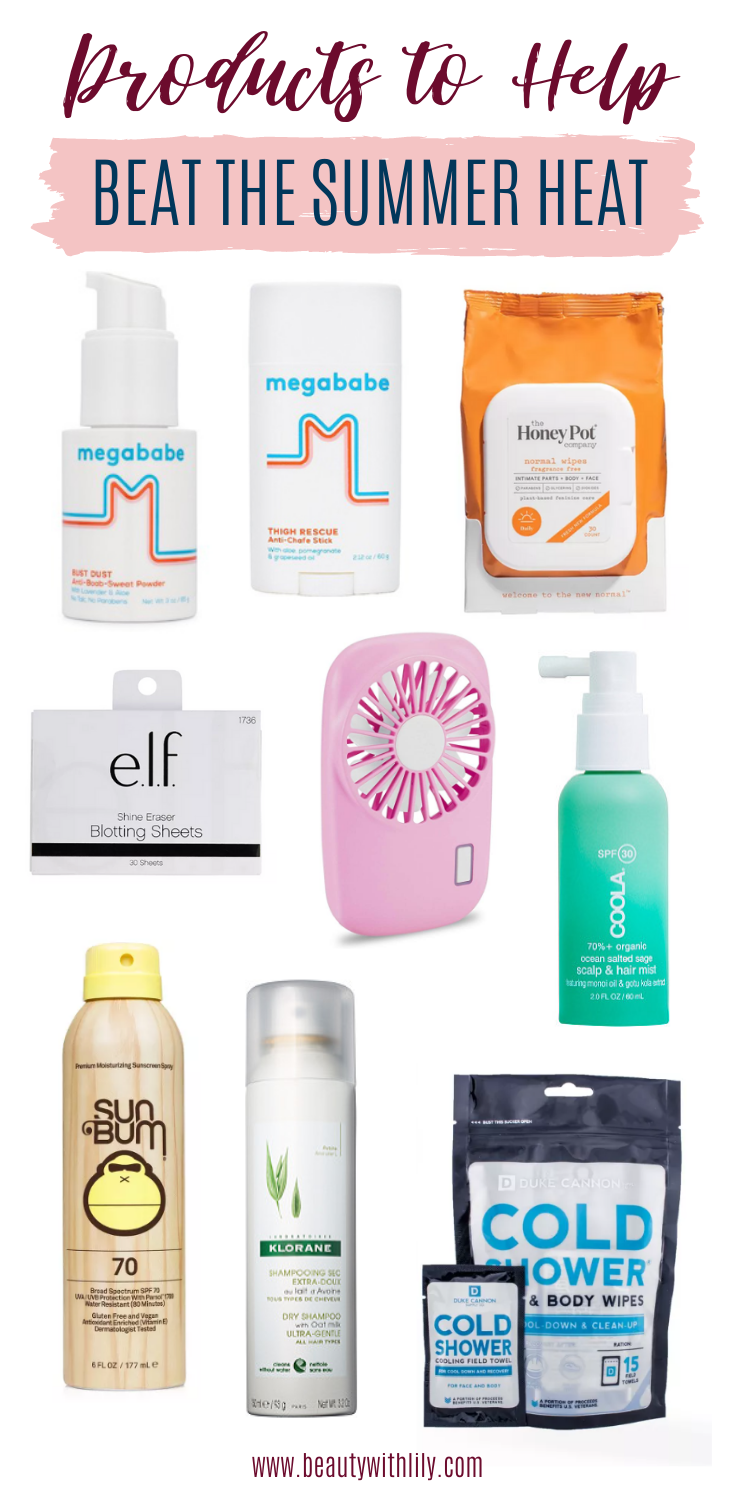 Products to Help Beat the Heat // Sweat Proof Products // How To Survive Summer // Summer Must Haves // Products To Help Get You Through Summer   Beauty With Lily #summeressentials #summermusthaves