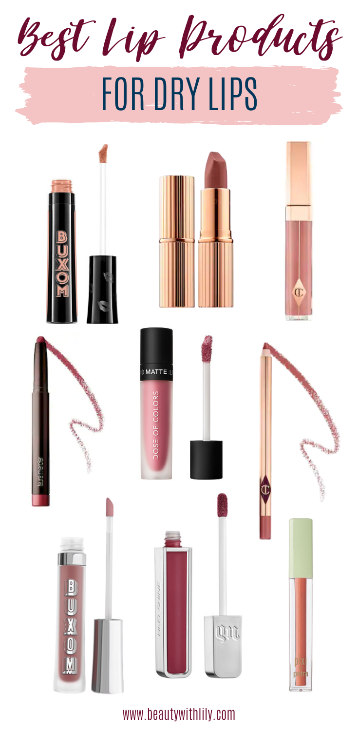 Best Lip Products for Dry Lips // Lipsticks for Dry Lips // Must Have Lip Colors // Lips Colors for Dry Lips // Natural Lip Colors // Best Lip Glosses // Best Lipsticks // Drugstore Lip Products // High-End Lip Products   Beauty With Lily #lipsticks #lipproducts