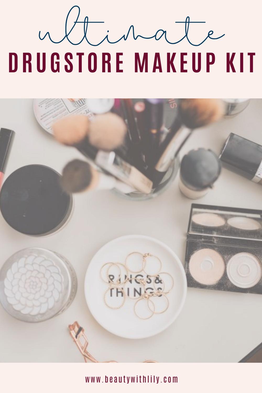 Ultimate Drugstore Makeup Kit // Makeup Starter Kit // Drugstore Makeup // Affordable Makeup // Best Drugstore Makeup   Beauty With Lily #drugstoremakeup #startermakeupkit