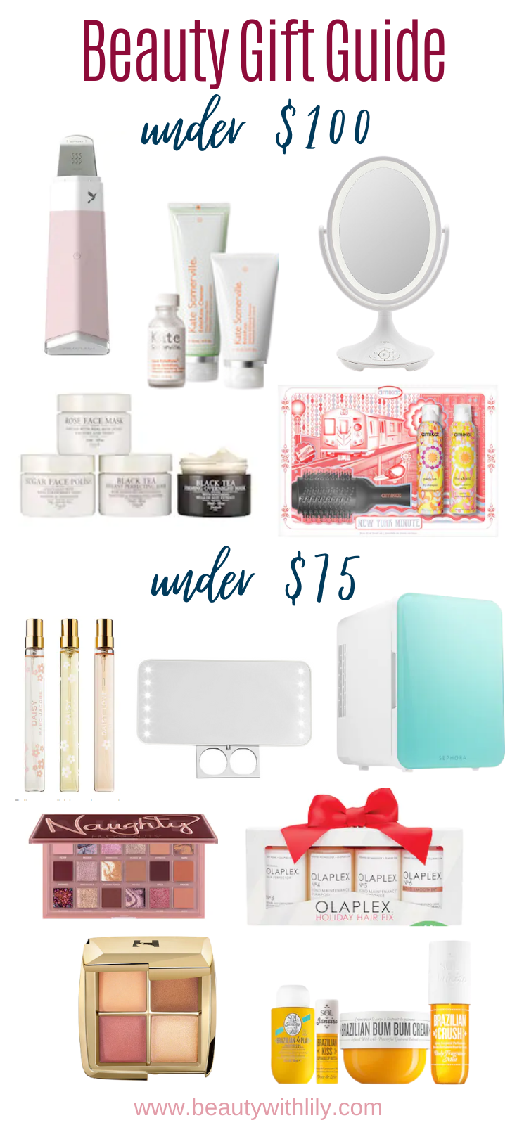 Gift Guide for Beauty Lovers // Holiday Gift Guide for Women // Makeup Lovers Gift Guide // Gift Guide for Her // Sephora Favorites // Ulta Favorites   Beauty With Lily
